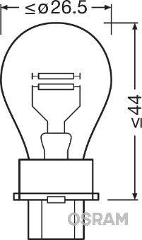 3157 Glühlampe, Blinkleuchte OSRAM in Original Qualität