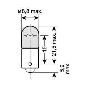 3886X OSRAM ORIGINAL Sockelglödlampa, 12V, 6W Glödlampa, innerbelysning 3886X köp lågt pris
