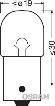 5008 Glühlampe, Bremsleuchte OSRAM in Original Qualität