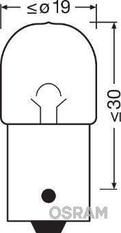 Lampadina luce posteriore 5008-02B OSRAM — Solo ricambi nuovi