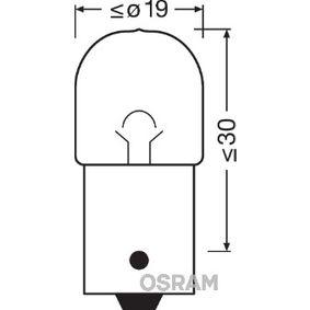 R10W OSRAM ORIGINAL BA15s, 10W, 12V Glödlampa, bromsljus 5008-02B köp lågt pris