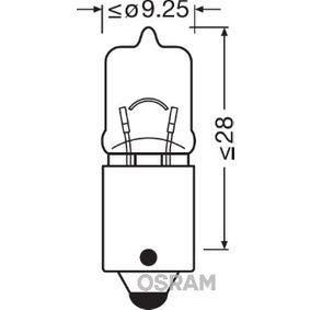 H6W OSRAM ORIGINAL H6W, BAX9s, 12V, 6W Glödlampa, blinker 64132 köp lågt pris