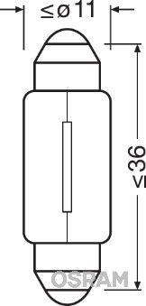 6418 Hõõgpirn, numbrivalgustus OSRAM Test