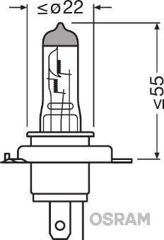 OSRAM Gloeilamp, verstraler 64193ULT-HCB