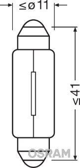 OE Original Glühlampe Kennzeichenbeleuchtung 6421 OSRAM