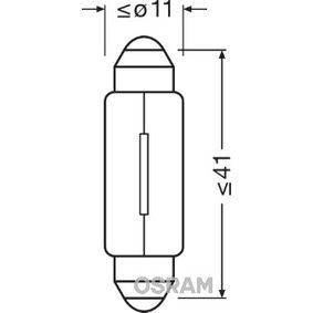 6424 OSRAM ORIGINAL Lâmpada de casquilho, 24V, 5W Lâmpada, luz de chapa de matrícula 6424 comprar económica