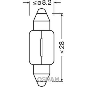 6428 OSRAM ORIGINAL Sockelglühlampe, 12V, 3W Glühlampe, Innenraumleuchte 6428 günstig kaufen