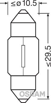 Gloeilamp, interieurverlichting 6438 Mercedes W204 year_short 2008 — geniet meteen van een superdeal!