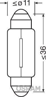 Acquistare ricambi originali OSRAM Lampadina ORIGINAL 6461