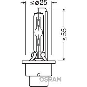 66240 Glühlampe, Fernscheinwerfer OSRAM in Original Qualität