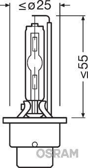66240CBI Lâmpada, farol de longo alcance OSRAM originais de qualidade