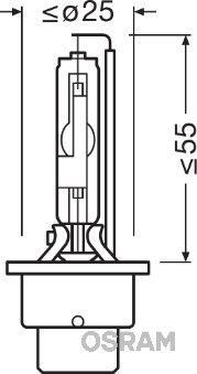 66250 Крушка с нагреваема жичка, фар за дълги светлини OSRAM Test