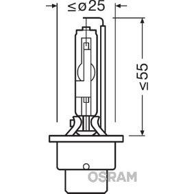 66250 Glödlampa, fjärrstrålkastare OSRAM originalkvalite