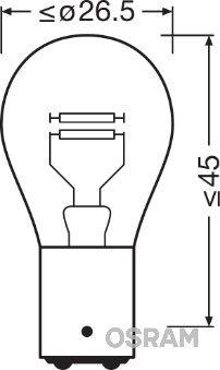 VW PASSAT 2020 Heckleuchten Glühlampe - Original OSRAM 7225-02B