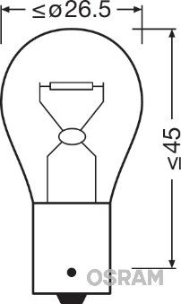 PY21W OSRAM DIADEM PY21W, BAU15s, 12V, 21W Glühlampe, Blinkleuchte 7507LDA günstig kaufen