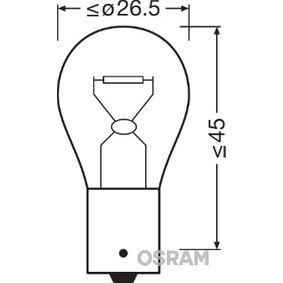 P21W OSRAM ORIGINAL P21W, BA15s, 24V, 21W Glödlampa, blinker 7511 köp lågt pris