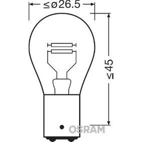 P215W OSRAM ORIGINAL P21/5W, BAY15d, 12V, 21/5W Glödlampa, blinker 7528-02B köp lågt pris