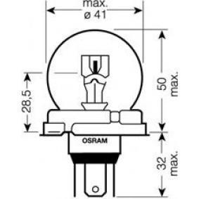 7952 OSRAM 55 / 50W, R2 (Bilux), 24V Glödlampa, fjärrstrålkastare 7952 köp lågt pris
