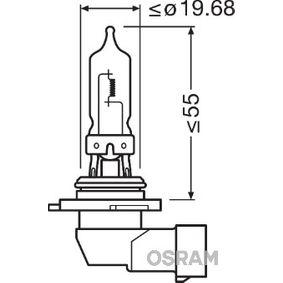 9005 Glödlampa, fjärrstrålkastare OSRAM originalkvalite