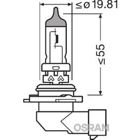 9006 Glödlampa, fjärrstrålkastare OSRAM originalkvalite
