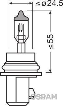 Pieces d'origine: Ampoule, projecteur longue portée OSRAM 9007 () - Achetez tout de suite!