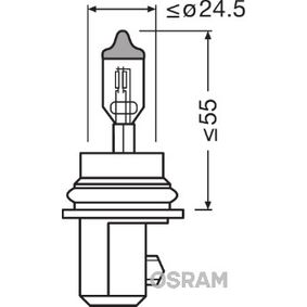 HB5 OSRAM ORIGINAL 60/55W, HB5, 12V Glödlampa, fjärrstrålkastare 9007 köp lågt pris