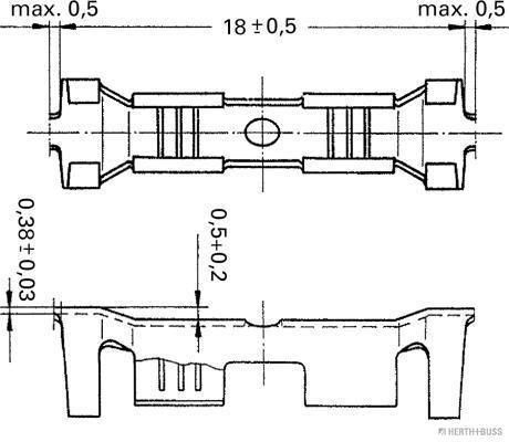 HERTH+BUSS ELPARTS   Crimpverbinder 50253351
