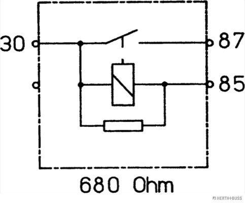 75613186 Relais, Kraftstoffpumpe HERTH+BUSS ELPARTS Test