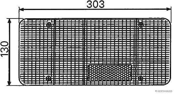 83830061 Luce posteriore HERTH+BUSS ELPARTS qualità originale