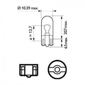 12961B2 Lemputė, indikatorius PHILIPS W5W Platus pasirinkimas — didelės nuolaidos