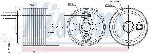 NISSENS: Original Automatikgetriebe Ölkühler 91267 ()