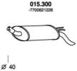 PEDOL 015.300 : Pot d'échappement pour Twingo c06 1.2 2003 58 CH à un prix avantageux