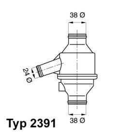 WAHLER Termostat, kylvätska 2391.75 - köp med 15% rabatt