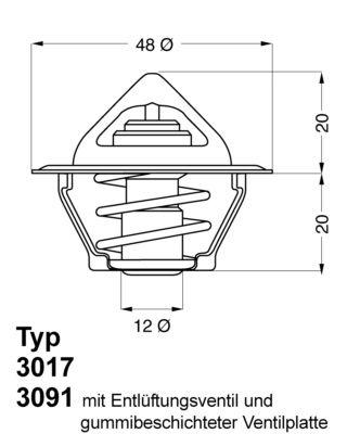 Original Motorkühlsystem 3017.92D2 Opel