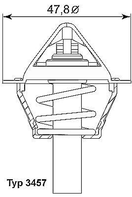 Original Motor koelsysteem 3457.90D Mercedes