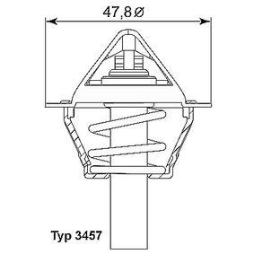 E2930019509A0 WAHLER Öppningstemperatur: 90°C, med packningar Termostat, kylvätska 3457.90D köp lågt pris