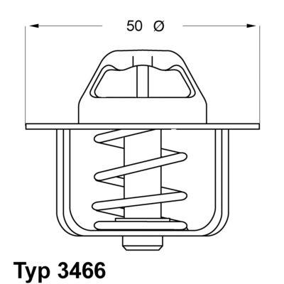 WAHLER Thermostat, Kühlmittel 3466.89D