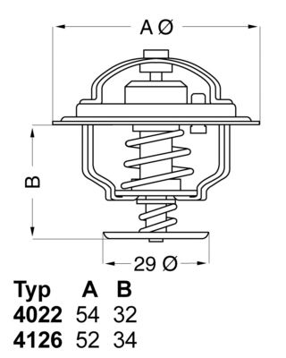 OE Original Kühlwasserthermostat 4022.82D WAHLER