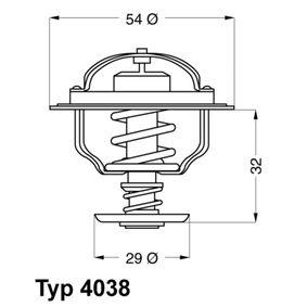 E2858853501B9 WAHLER Öffnungstemperatur: 81°C, mit Dichtung Thermostat, Kühlmittel 4038.81D günstig kaufen