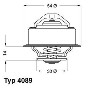 E2858853541C9 WAHLER Öffnungstemperatur: 82°C, mit Dichtung Thermostat, Kühlmittel 4089.82D günstig kaufen