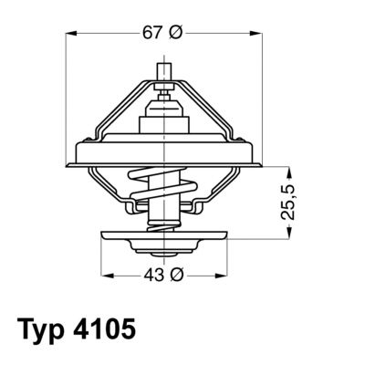WAHLER Thermostat, Kühlmittel 4105.71D