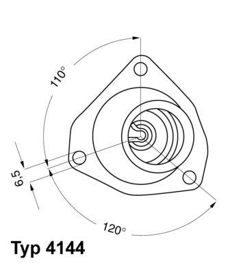 Термостат, охладителна течност 4144.92D за OPEL OMEGA на ниска цена — купете сега!