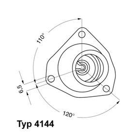 Купете E2858853587B9 WAHLER температура на отваряне: 92°C, с уплътнение Термостат, охладителна течност 4144.92D евтино