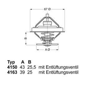 Thermostat, Kühlmittel WAHLER 4150.83D50 mit 25% Rabatt kaufen