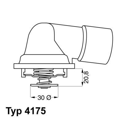 Thermostat, Kühlmittel WAHLER 4175.92D Bewertungen