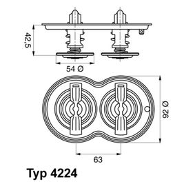 422480D Thermostat, Kühlmittel WAHLER online kaufen