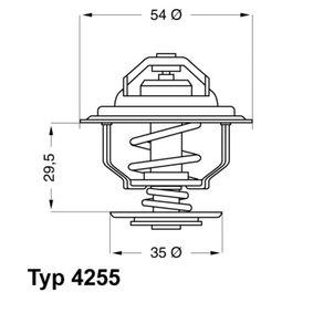 E2858853743E9 WAHLER Öffnungstemperatur: 92°C, mit Dichtung Thermostat, Kühlmittel 4255.92D günstig kaufen