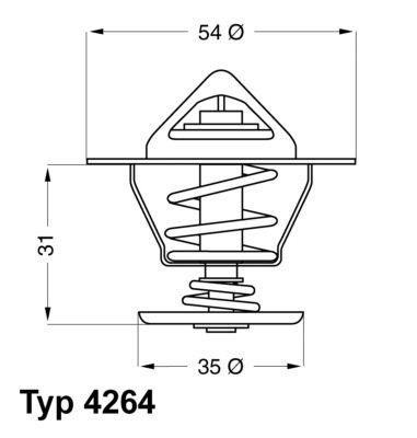 4264.87D Termostat, środek chłodzący WAHLER - Doświadczenie w niskich cenach
