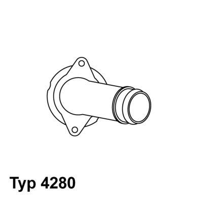 Купете E2858853781A9 WAHLER температура на отваряне: 85°C, с уплътнение, с корпус Термостат, охладителна течност 4280.85D евтино