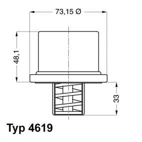 Thermostat, Kühlmittel WAHLER 4619.82 mit 26% Rabatt kaufen